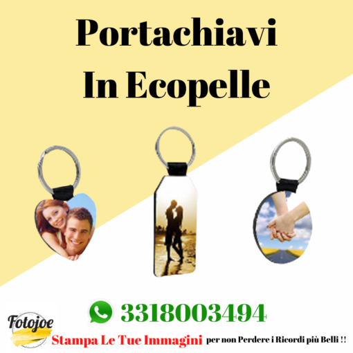portachiavi in ecopelle