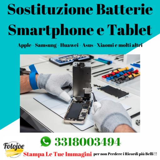sostituzione batterie smartphone e tablet